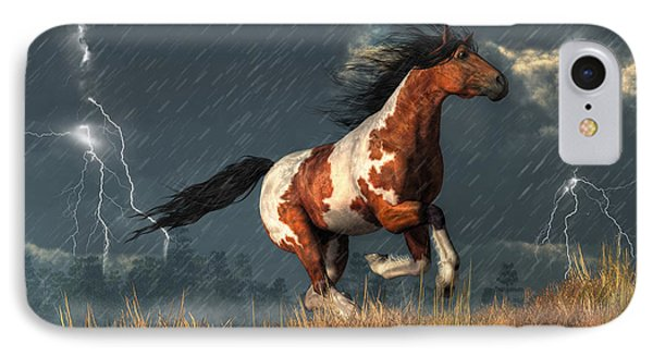 Storm Mustang IPhone Case by Daniel Eskridge