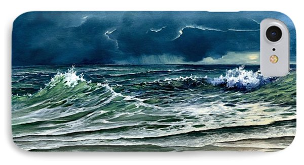 IPhone Case featuring the painting Storm Off Yucatan Mexico by Lynne Wright