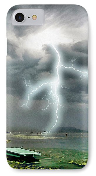 Storm On Balaton Lake IPhone Case by Odon Czintos