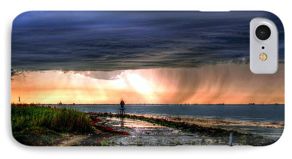 Storm On The Bay IPhone Case