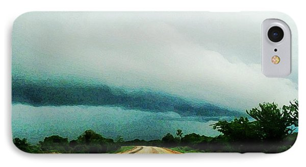 Storm On The Horizon IPhone Case by Zinvolle Art