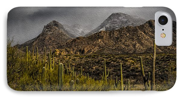 Storm Over Catalinas Aso IPhone Case by Mark Myhaver