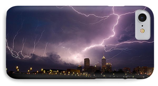 Storm Over City IPhone Case by Alexey Stiop