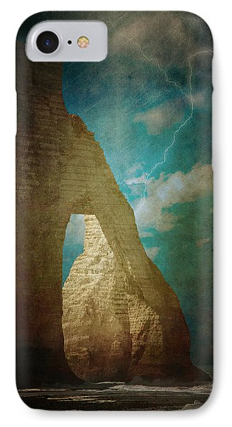 Storm Over Etretat Phone Case by Loriental Photography