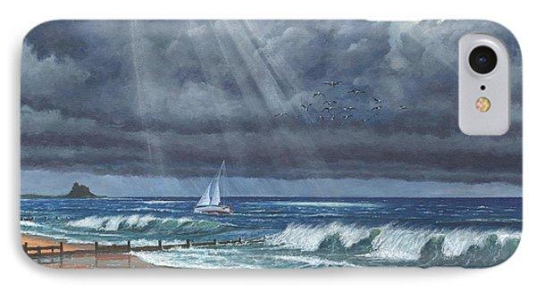 Storm Over Lindisfarne Phone Case by Richard Harpum