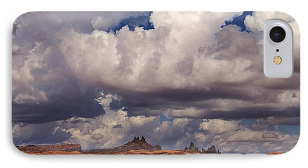 Storm Over Monument Valley Phone Case by Janice Rae Pariza