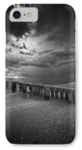 Storm Over Naples Florida Beach IPhone Case by Bradley R Youngberg