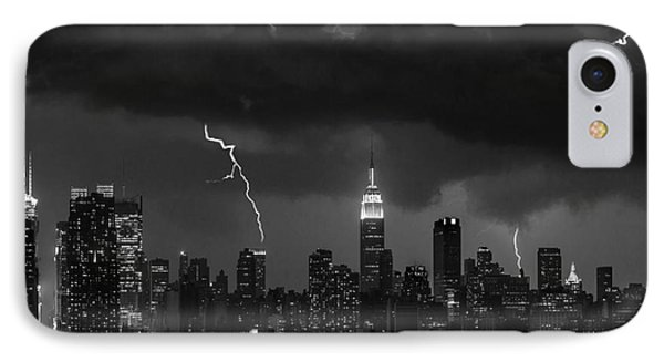 Storm Over Nyc  Phone Case by Jerry Fornarotto