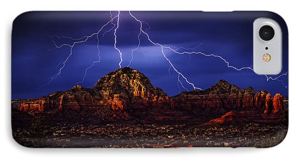 Storm Over Sedona Az IPhone Case by Robert Albrecht