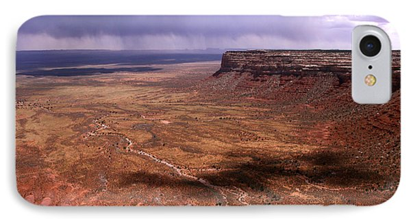 Storm Over The Desert IPhone Case by Butch Lombardi