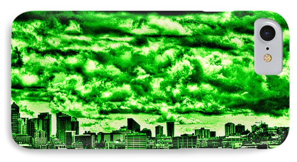 Storm Over The Emerald City Phone Case by David Patterson
