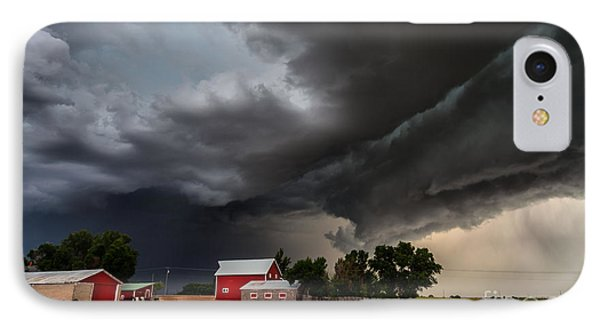 Storm Over The Farm IPhone Case