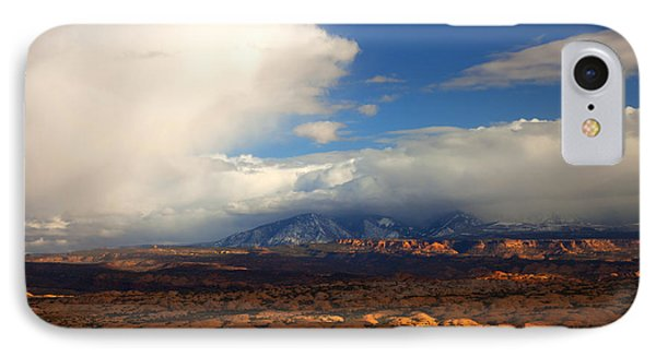 Storm Over The La Sals Phone Case by Mike  Dawson