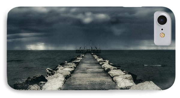 Storm Over The Sea IPhone Case