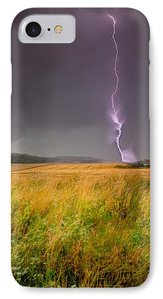 Storm Over The Wheat Fields IPhone Case by Eti Reid