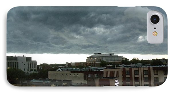 IPhone Case featuring the photograph Storm Over West Chester by Ed Sweeney
