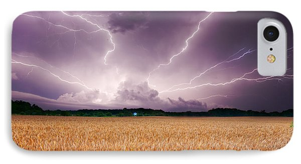 Storm Over Wheat IPhone Case by Alexey Stiop