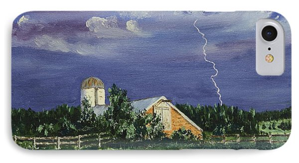 Storm Rolling In IPhone Case by Alan Mager
