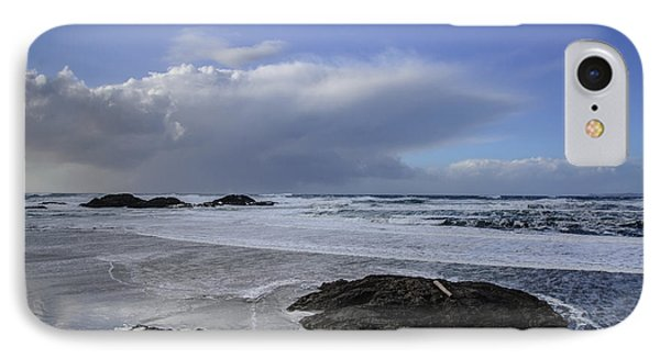 Storm Rolling In Wickaninnish Beach IPhone Case by Roxy Hurtubise