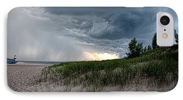 Storm Rolling In IPhone Case by John Crothers