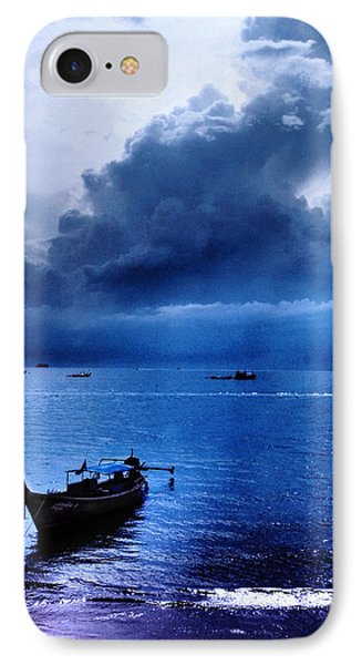 Storm Rolls Over The Sea Phone Case by Kaleidoscopik Photography