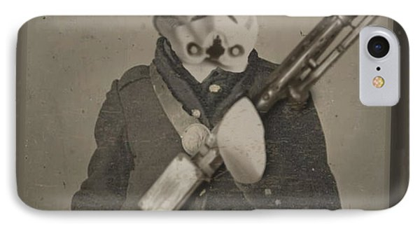 Storm Trooper Star Wars Antique Photo Phone Case by Tony Rubino