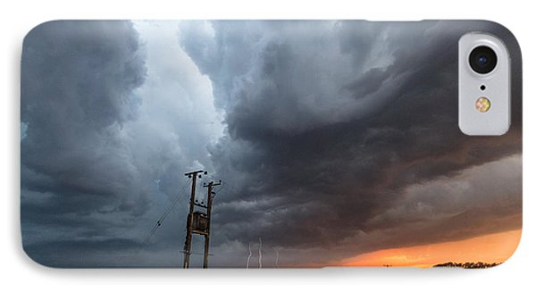 Stormfront At Sunset IPhone Case by Ian Hufton