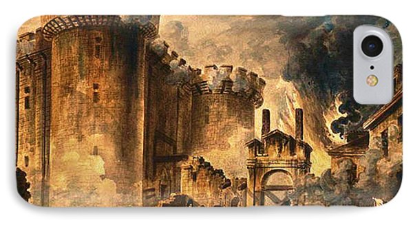 Storming Of The Bastille IPhone Case by Jean-Pierre Houel