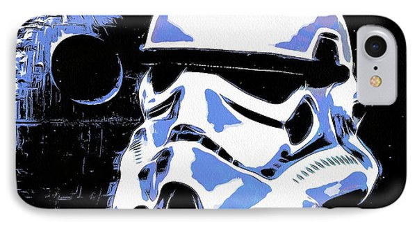 Stormtrooper Helmet And Death Star IPhone Case