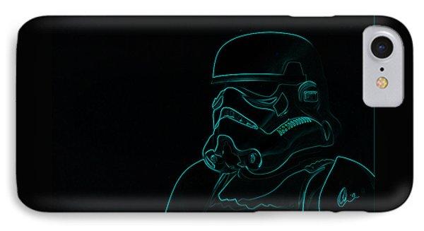Stormtrooper In Teal IPhone Case