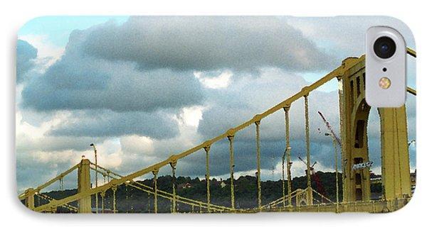 Stormy Bridge Phone Case by Frank Romeo