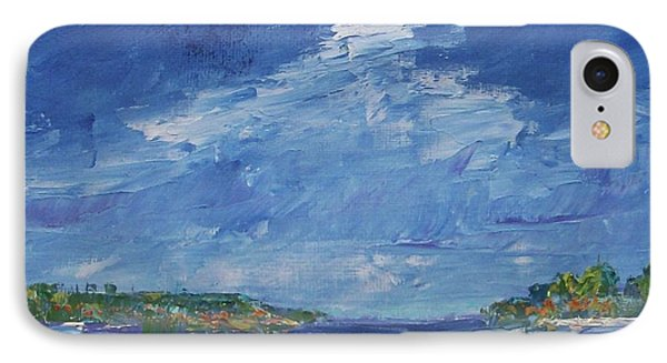 Stormy Day At Picnic Island IPhone Case