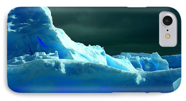 IPhone Case featuring the photograph Stormy Icebergs by Amanda Stadther