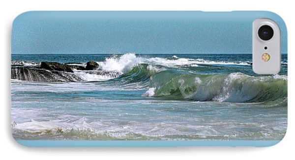 Stormy Lagune - Blue Seascape Phone Case by Ben and Raisa Gertsberg