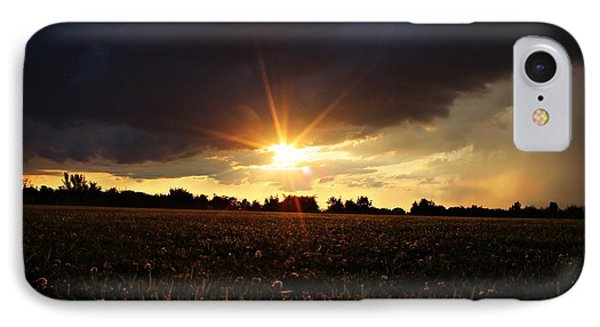 IPhone Case featuring the photograph Stormy Lit Pasture by Candice Trimble