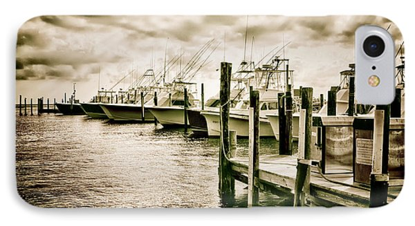 Stormy Marina On The Outer Banks IPhone Case