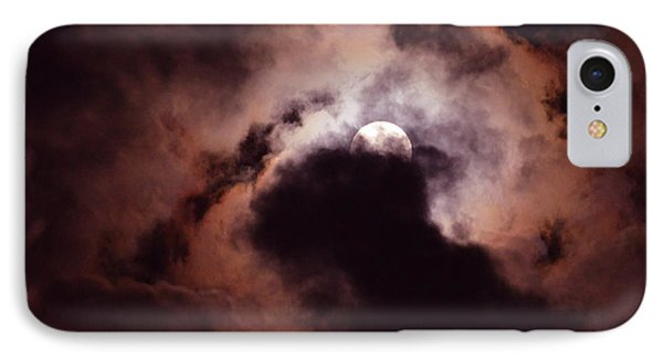 IPhone Case featuring the photograph Stormy Moon Three by Linda Cox