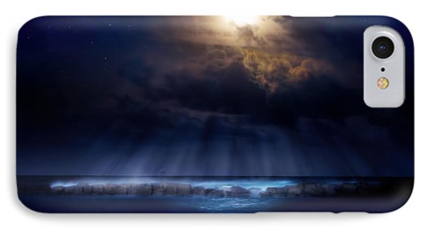 Stormy Moonrise IPhone Case