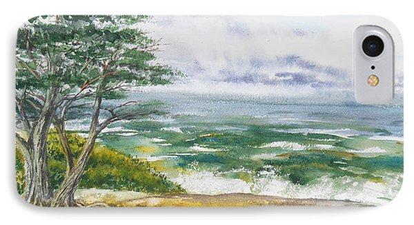 Shore iPhone 7 Case - Stormy Morning At Carmel By The Sea California by Irina Sztukowski