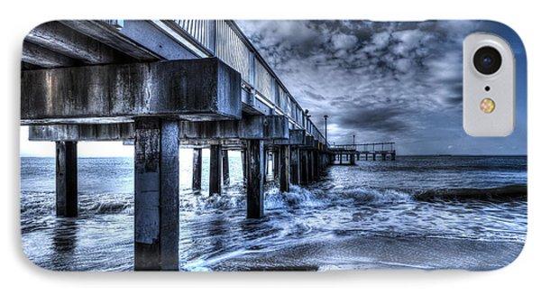 Stormy Pier IPhone Case by Rafael Quirindongo