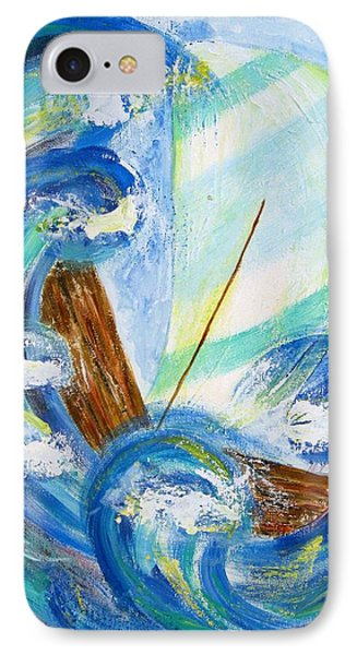 Stormy Sails IPhone Case by Diane Pape