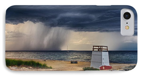 Stormy Seashore IPhone Case by Mark Miller