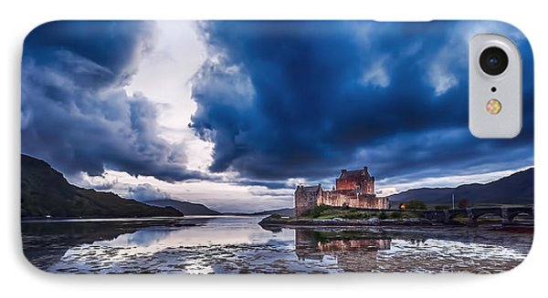 Stormy Skies Over Eilean Donan Castle IPhone Case