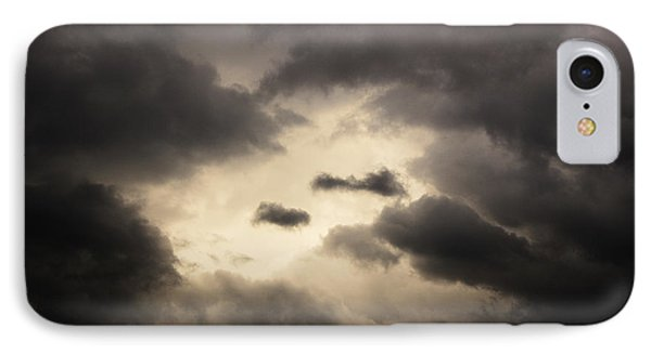 Stormy Sky With A Bit Of Blue Phone Case by Thomas R Fletcher