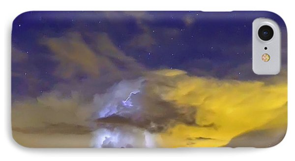 IPhone Case featuring the photograph Stormy Stormy Night by Charlotte Schafer