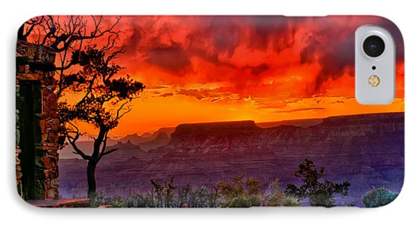 Stormy Sunset At The Watchtower Phone Case by Greg Norrell