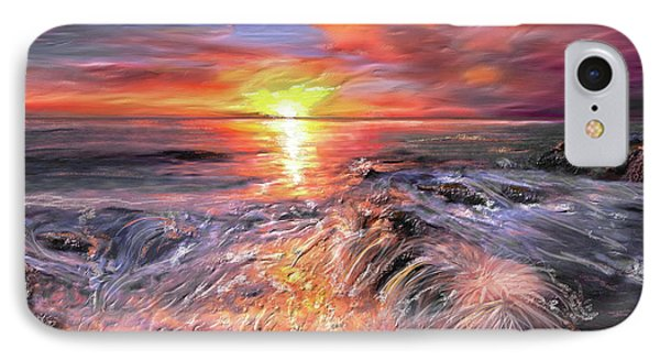 Stormy Sunset At Water's Edge Phone Case by Angela A Stanton