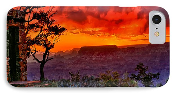 Stormy Sunset Greeting Card Phone Case by Greg Norrell