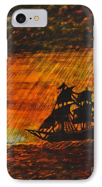 Stormy Sunset Phone Case by Valerie Lynn