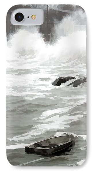 IPhone Case featuring the photograph Stormy Waves Pound The Shoreline by Jeff Folger